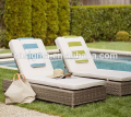luxury garden furniture cane chaise lounge resin sun lounger
