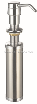 Stainless steel kitchen sink liquid soap dispenser