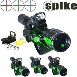 6-24x50 Red,green,blue Rifle Scope Riflescope Sight/1'' Ring 20mm+red dot reflex sight+green laser sight red dot & laser scope