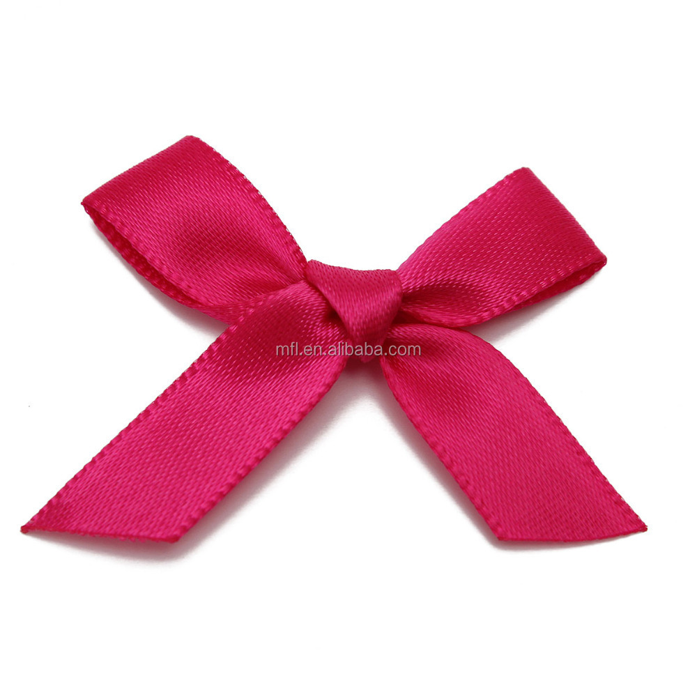 High quality accessories mini bows with pearl ready made satin printed garment bows