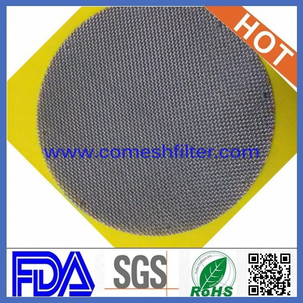 (Factory) 15 micron precision sintered stainless mesh filter disc
