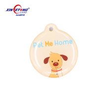 13.56Mhz waterproof Epoxy RFID NFC tag Ntag215 with QR code printing for pet Xinyetong manufacturer