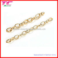 high quality finish decorative metal chain for clothing