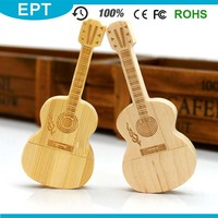 Violin Shape Wood Necklace Style Low Capacity USB Flash Drive