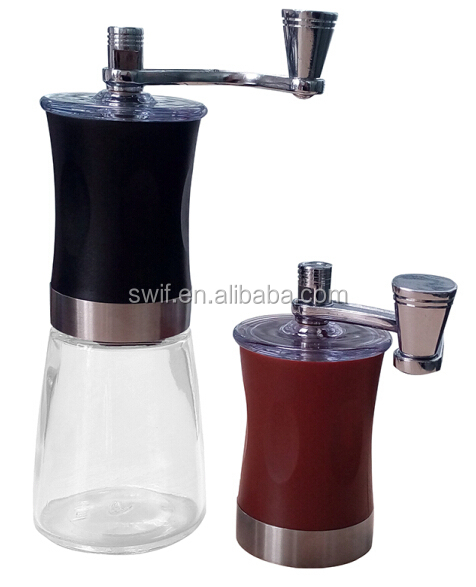 High quality Manual Coffee Burr Grinder Hand grinds Beans Small Coffee Grinder