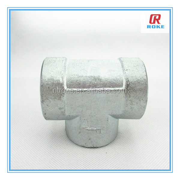 High pressure female thread carbon steel material forged 3 way pipe fittings