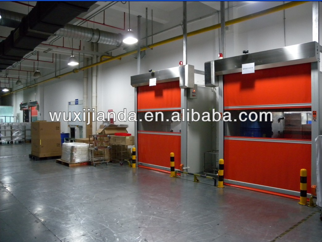 automatic clean room/storage pvc roll up shutter door