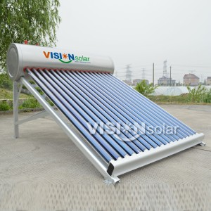 Rooftop Compact Vacuum Tube Solar Water Heater Price