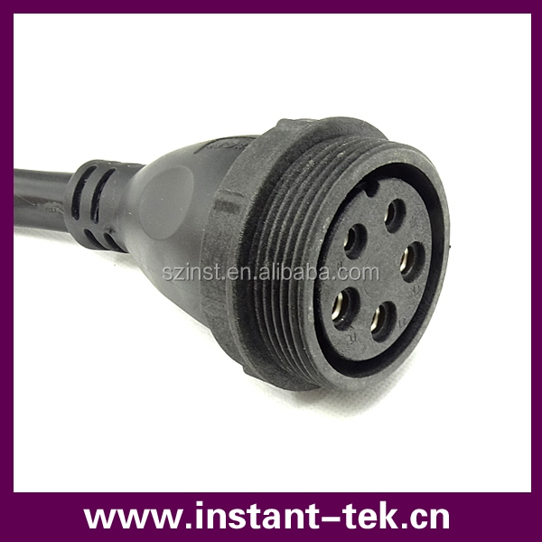 INST pogo pin connector waterproof female 5 pin connector