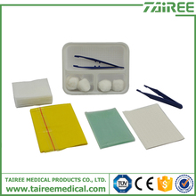 Sterile Basic Dressing Set surgical kit CE approved wound care dressing pack