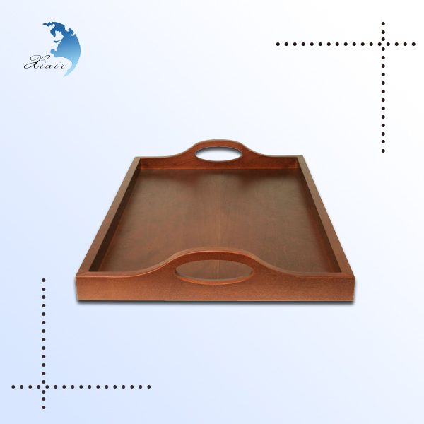 wholesale lacquered rectangular design trays with two handles