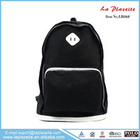 Black school girls bag, best quality school backpack impact school bag