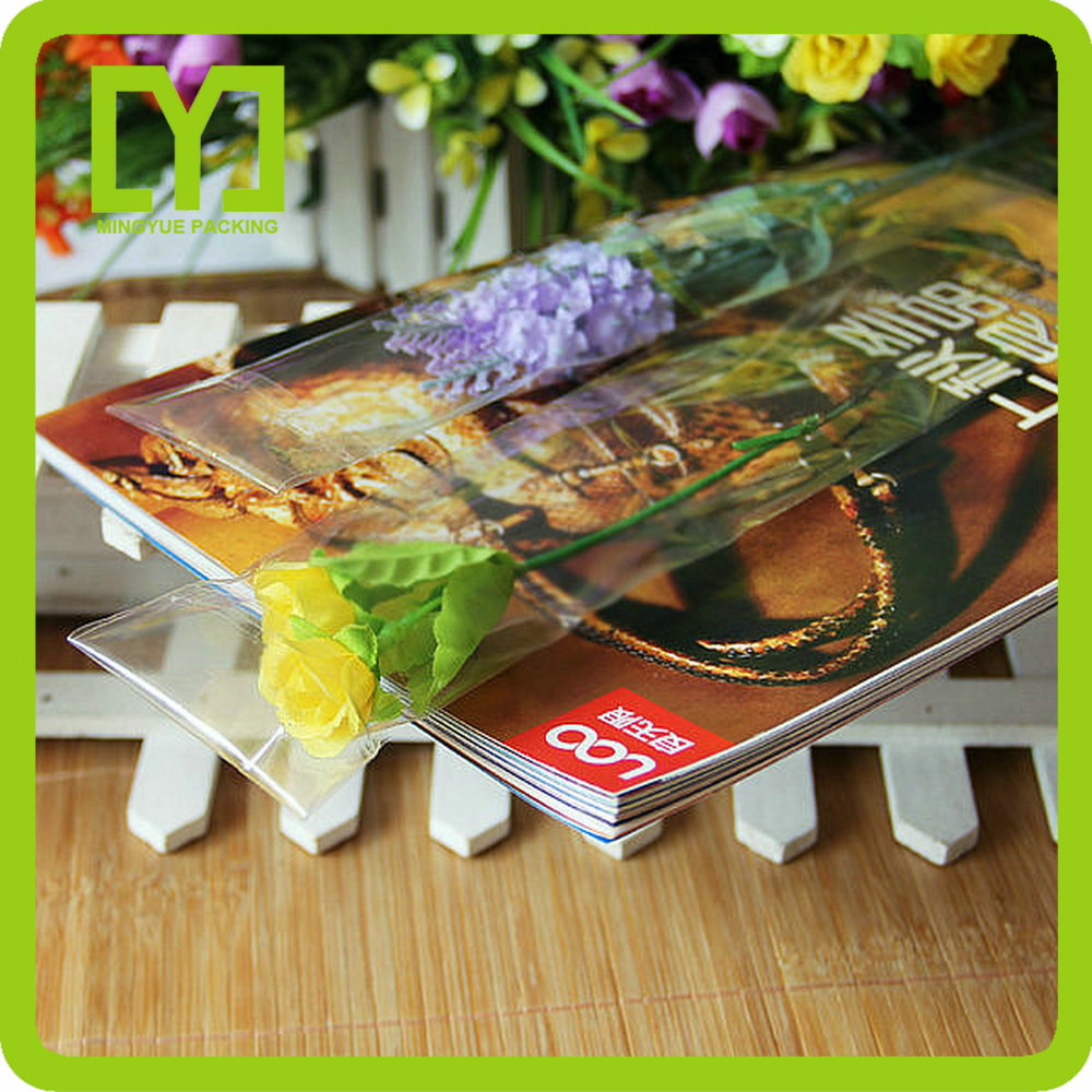 Yiwu OPP Clear Plastic Round Single Artificial Flower Packaging Box for Gift