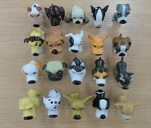 Custom small plastic dog figurines,plastic toy dog model