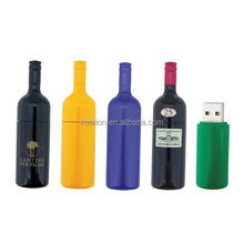 personalized gift usb red wine bottle shaped / wine bottle 2gb usb flash drive red color