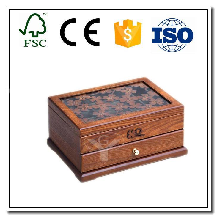 luxury large wooden jewelry box for ring