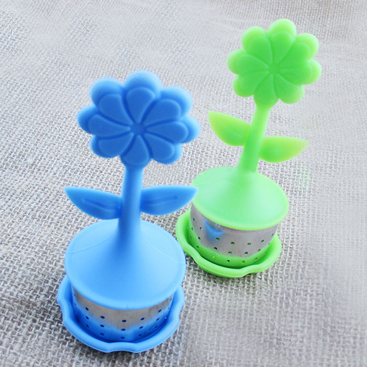 Flower Pot Shaped Silicone Tea Bag
