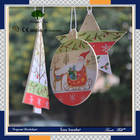 Custom cute Christmas decor paper card hanging car air freshener for marketing activity