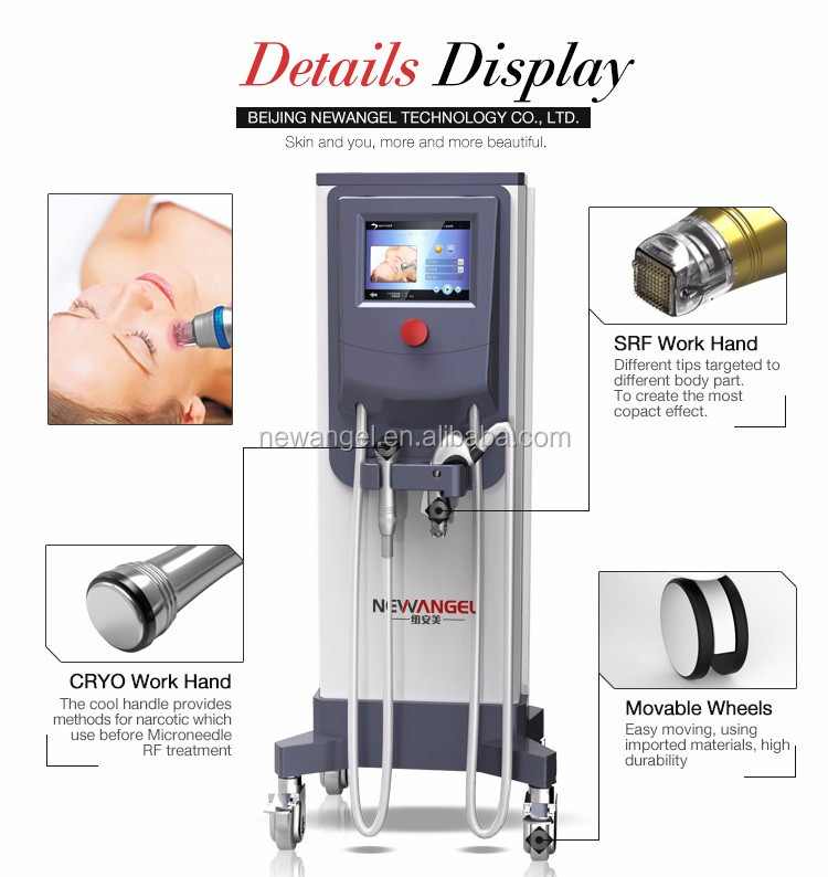 Acne treatment face lift superficial fractional rf microneedle machine