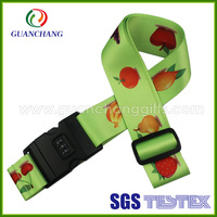 Hot selling personalized printing elastic luggage strap, China Supplier Fashion Luggage Scale Belt
