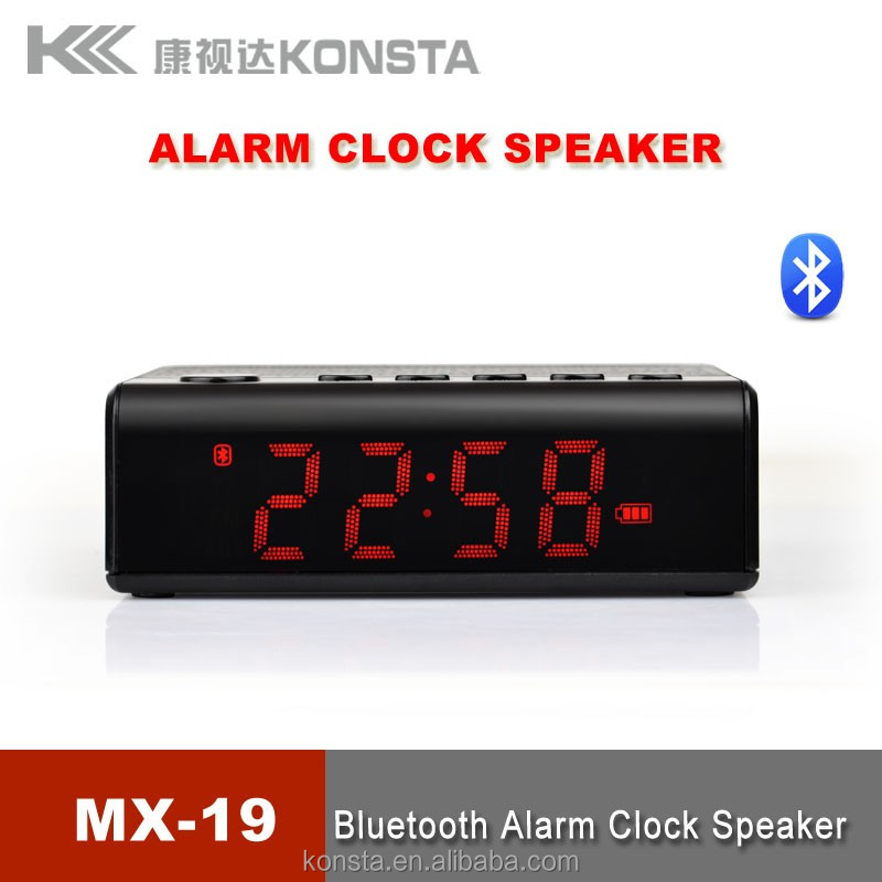 China factory supply hotel alarm clock radio with alarm snooze removable battery