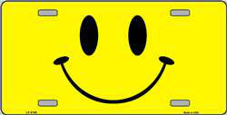 Happy Face Wholesale Metal Novelty License Plate Tag Sign Blanks