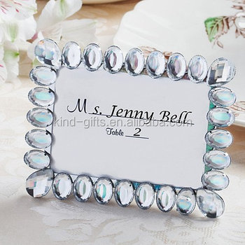 beautiful bling white wedding crystal rhinestone photo frame silver ornate bling