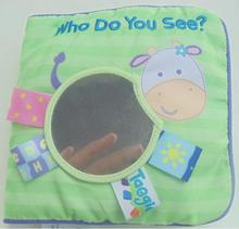 Baby soft cloth book with mirror