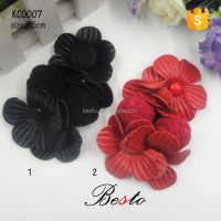 In stock wholesale handamde leather shoe flower for sandal