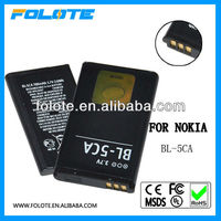 high capacity cell phone battery BL-5CA for Nokia mobile phone all models