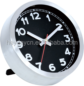 new style fashion wholesale table clock/desk stainless steel clock (HD-1002)