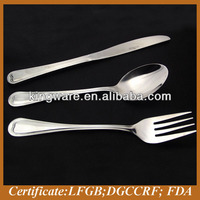 Stainless steel knife spoon and fork set