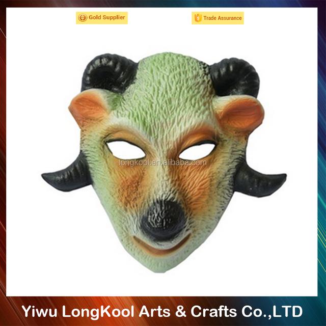 Wholesale handmade scary mask goat animal halloween mask