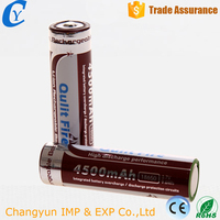 High capacity 4500mAh 3.7v Rechargeable 18650 li-ion battery for flashlight