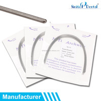 Sinitic Dental NITI 18x18 Rectangle Ovoid / Natural / Square Supper Elastic Arch wire