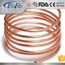 Small diameter copper capillary tube for air conditioner and heat exchange