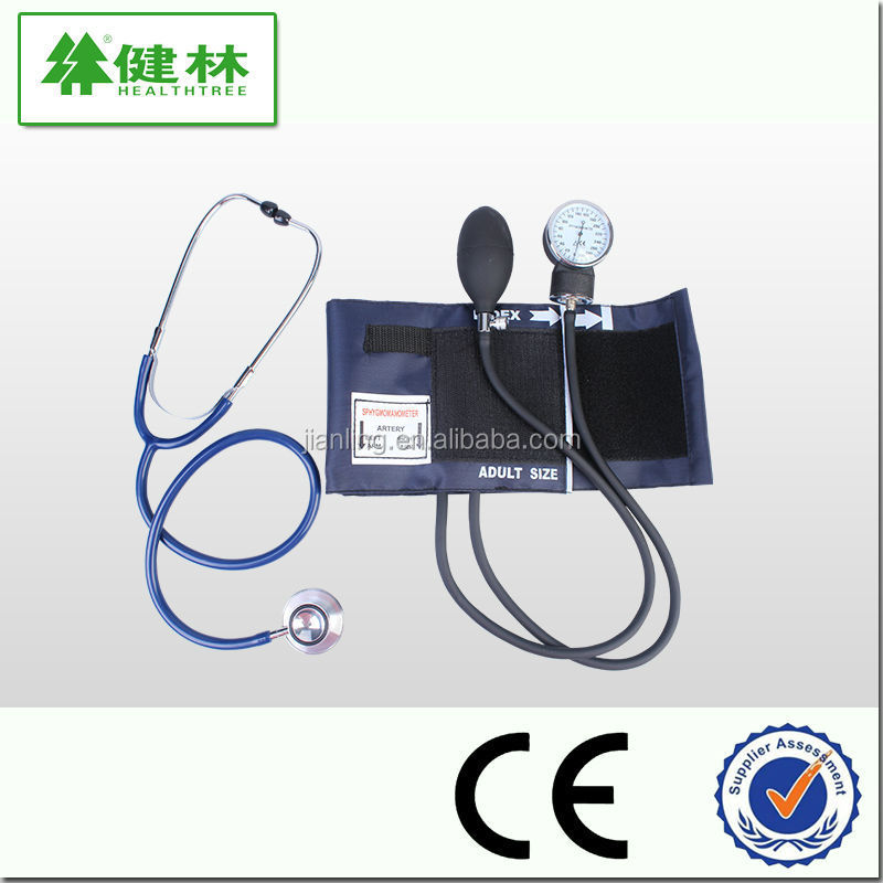 2015 CE FDA standard aneroid sphygmomanometer with dual head stethoscope for home use and hospital use.blood pressure monitor