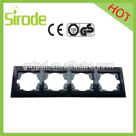 China factory supply wall Switch Socket Frame Single, Double, Triple, Quadruple PC material