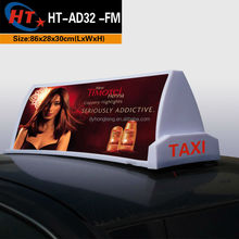 Beautiful model outdoor led taxi top digital sign board advertising