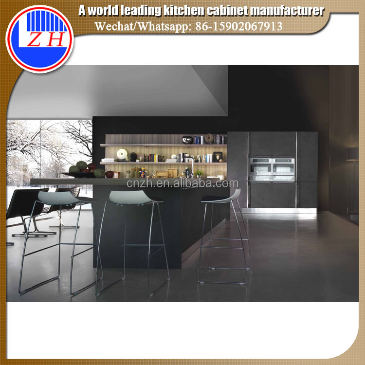 Modular germany high end luxury wood kitchen cabinet furniture made in China