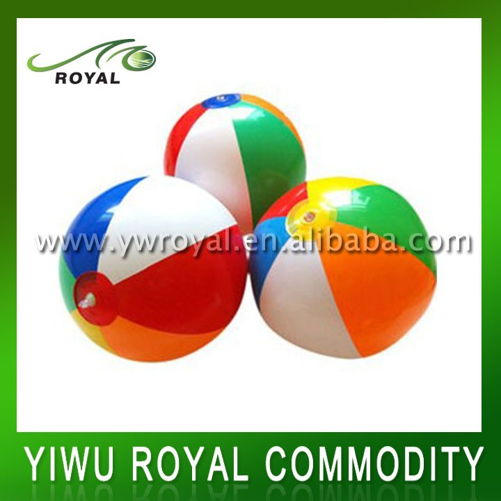 Rainbow Colorful Small Clear Inflatable PVC Beach Ball