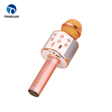 Low MOQ Have Stock Mobile Phone Wireless Karaoke Microphone Rose Gold