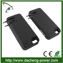 2014 Newly arrival 4200mAH 2in1 backup battery case for iphone5 with AC plug