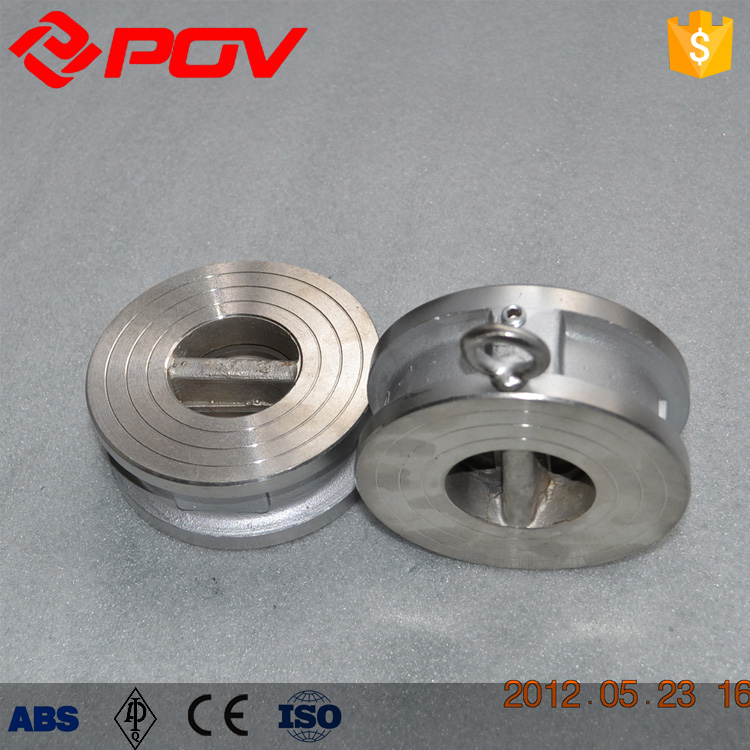Stainless Steel Material Dual Plate Wafer connect Flap Check Valve