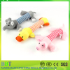 2016 pet shop promotional sound yellow duck & pink pig & gray elephant squeaky pet toys for dog toy
