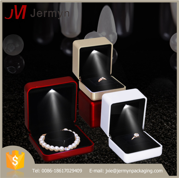 Unique design luxury jewelry gift boxes with led lights
