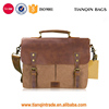 Competitive Price Mens/Womens Vintage Leather Canvas Shoulder Bag Laptop Messenger Bag Brown