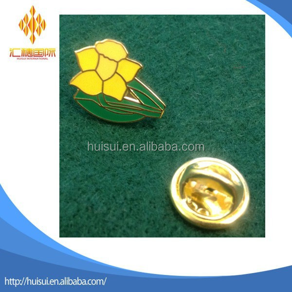 metal hard enamel trd welsh daffodil lapel pin badge