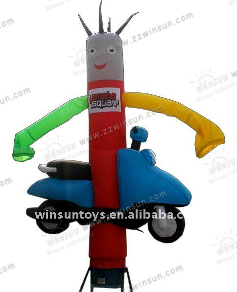 2013 popular inflatable sky dancer with moto