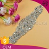 Beaded glass rhinestone applique headband for bridal WRC43